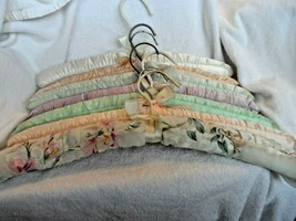 Vintage padded hangers - lot of 7 pastel colors - $12.00