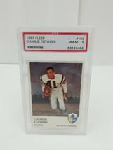 1961 Fleer Football Charlie Flowers #156 PSA 8 NM-MT San Diego Chargers Card image 1