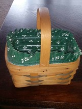 1996 Handwoven Longaberger Basket With Liner And Protector - $16.14