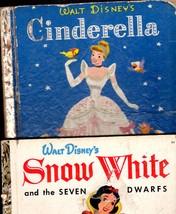 Walt Disney 2 Little Golden Books - Snow White & The 7 Dwarfs and Cinder... - $5.00