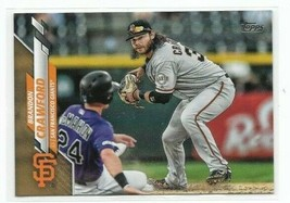 2020 Topps Gold Parallel #236 - Brandon Crawford - serial # 1952/2020 - ... - $1.79