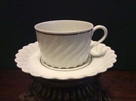 Haviland Limoges Beaucaire Coffee/Tea Cup & Saucer Mint Condition - $12.00