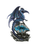 Pacific Giftware Checkmate Dragon with LED Light Frozen Blue Crystal Mou... - $55.43