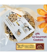 Awesome Oat Cookies, 12 packed by 2's Gourmet Cookies, 2 Assorted Flavors - $32.49