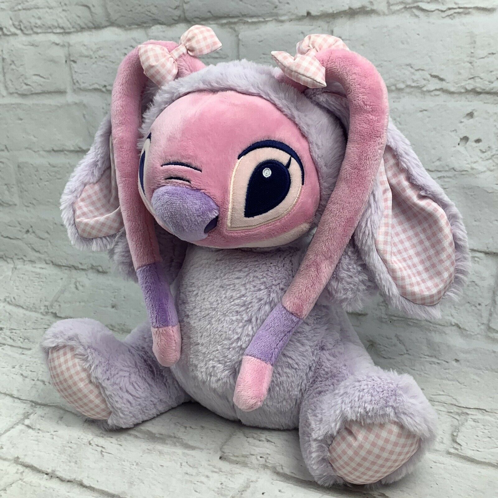 Disney Store Angel Bunny Plush 11'' LILO and Stitch Gift Easter Bunny Basket image 3