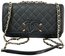 Authentic Chanel Classic Flap Caviar Quilted Large Filigree Flap Shoulder Bag - $3,999.99