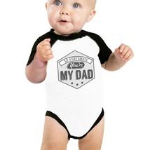 So Fortunate You're My Dad Cute Baseball Tee For Baby Raglan Tee - $15.99