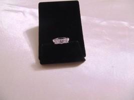 Macys Size 8  Silver Tone Three Carat Cubic Zirconia  Ring H676 - $14.39