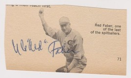 Urban 'Red' Faber (d. 1976) Signed Autographed Vintage 3.5x2 Book Photo - $49.99