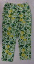 Ann Taylor Womens Size 12 Floral Decorated Casual Dress Pants Side Zipper - $32.66