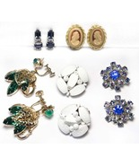 DETASH - Five Pairs of Vintage Clip-On and Screw-On Earrings - Two Signe... - $28.00