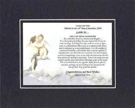 Personalized Touching and Heartfelt Poem for Wedding - Love Is Poem on 1... - $22.72