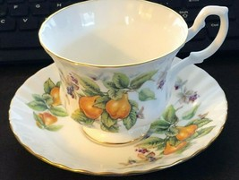 VINTAGE ROYAL ALBERT - PEARS & BERRIES PATTERN - CUP & SAUCER - MINT CON... - $14.03