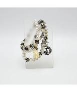 Lot of Three Stretch Charm Bracelets with Rhinestones - $20.00