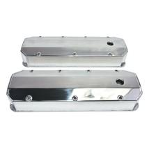 "Chevy GMC Fabricated Aluminum Tall Valve Covers 1/4"" Rail BBC 396 427 454 502"