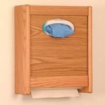Oak Wood Wall Mount C-Fold Towel Dispenser Restroom Tissue Dispenser Box - $61.13