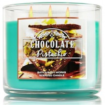 Bath & Body Works Chocolate Pistachio Three Wick 14.5 Ounces Scented Candle - $22.49