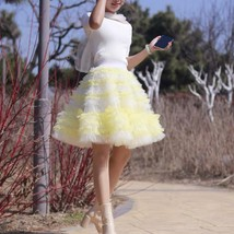 Black Knee Length Layered Tulle Skirt Plus Princess Tulle Skirt Holiday Outfit image 11
