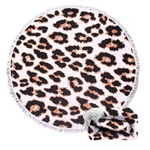 Genovega 22 Options Thick Round Beach Towel Blanket – Leopard Large Micr... - $25.84