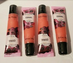 4 Bath And Body Works Coral Lip Gloss - $19.79