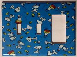 Peanuts Snoopy Woodstock Light Switch Power Outlet Wall Cover Plate Home Decor image 9