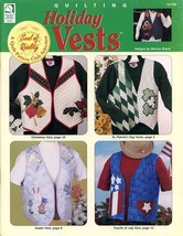 Holiday Vests 7 Designs HoWB #141180 Quilting Pattern Booklet NEW - $4.47