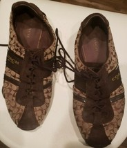 COACH Womens Shoes Lace Up Low Top Size Brown 8M - $32.40