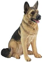 "Ebros Large Lifelike Realistic German Shepherd Dog Statue with Glass Eyes 21.25"" - $158.99"
