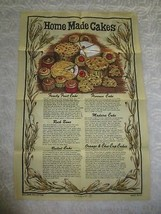 "New CAUSEWAY ""Home Made Cakes"" LINEN & COTTON TOWEL - 18 3/4"" x 28 1/2"" ... - $9.90"
