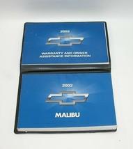 2002 Chevrolet Malibu Factory Original Owners Manual Book Portfolio #45 - $17.77