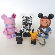 Disney Vinylmation Figure Lot of 5 Pink Hearts Zebra Pirate Scoreboard F... - $14.99