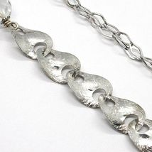 Necklace Silver 925, Jade Brown, Length 80 cm, Chain Worked to Flowers image 5