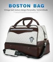 Pgm Boston Doble Capa Gran Capacidad Ropa / Zapato Bolsa Cremallera Lateral - $2.055,53 MXN