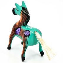 "Handmade Alebrijes Oaxacan Wood Carved Painted Folk Art Horse 3.5"" Figurine image 3"