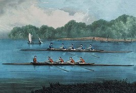 Boat Race by Nathaniel Currier - Art Print - $19.99+