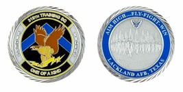 "LACKLAND AIR FORCE BASE  TIGERS 319TH TRAINING SQUADRON 1.75"" CHALLENGE ... - $17.09"