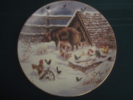 Country Christmas 1993 Collector Plate Lowell Davis Waiting For Mr Lowell Pigs - $60.00