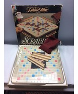 Vintage 1989 Scrabble Deluxe Edition Rotating Board Turntable Dark Red T... - $78.75