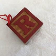 Dept 56 Wooden Baby Block Christmas Ornament Drum Bear Rocking Horse Let... - $6.68