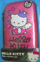 Hello Kitty Glitter Pink Purple Black NDS/DSi Zipper Shell Case Sanrio - $14.50