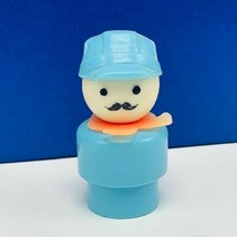 Fisher Price Little People vintage 1960s us antique toy figure train conductor - $9.70
