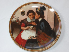 Norman Rockwell's Gossiping in the Alcove 1537M collector plate Knowles ... - $26.72
