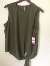 Elegant VINCE CAMUTO Olive Green TOP BLOUSE. Misses Large. NWT! retail $69 - $29.99