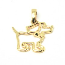 Pendant Puppy Gold 18K 750 Yellow Puppy Dog Puppy Made IN Italy image 1