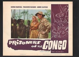 Prisoners of the Congo Lobby Card #1-1960-George Marchal - $29.68
