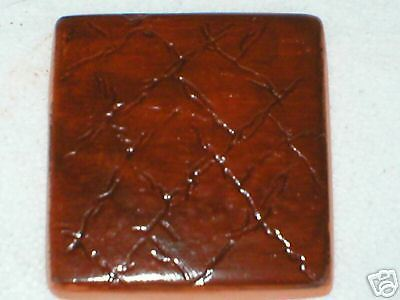 "Leather Texture Tile Molds 12- 4x4"" for Walls, Counter Make 100s for Pennies Ea."