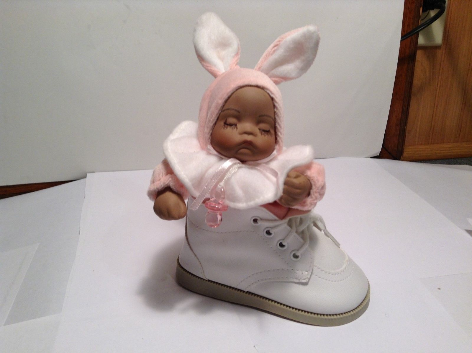 NEW Stephan Baby Child in Bunny Suit Music Box