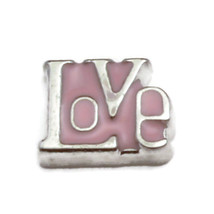 Pink Love Charm for Floating Locket (LCHM-138) - $0.99