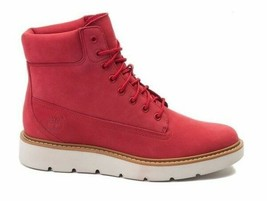 """Timberland Women's Kenniston 6"""" Lace up Boots  NEW AUTHENTIC Ruby/Red A1... - $99.99"""
