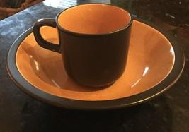 Mikasa Terra Stone China Paprika Japan Cereal Soup Bowl And Cup E1258 7158 Vtg - $21.78